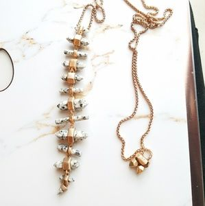 Kendra Scott rose gold long crystal drop necklace